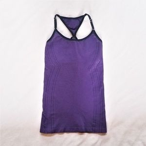 NUX Active Seamless Racer Back Tank Purple